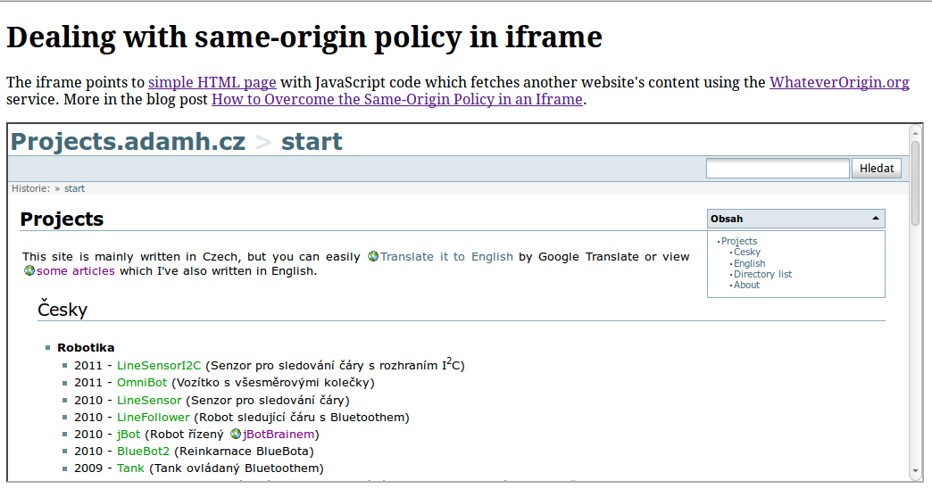 Overcoming The Same Origin Policy In An Iframe Adam Heinrich